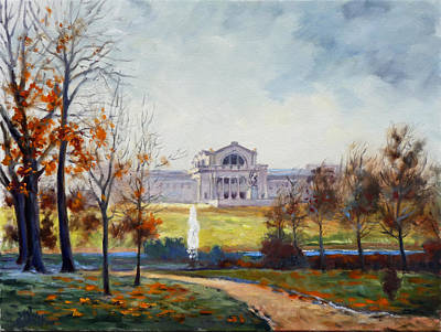 Saint Louis Painting - Forest Park Fall Saint Louis by Irek Szelag