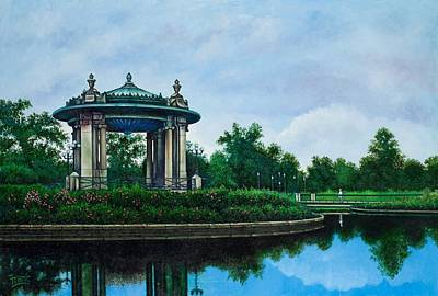 Forest Park Muny Bandstand II Art Print by Michael Frank