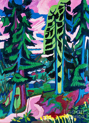 Forest Path In Summer Art Print by Ernst Ludwig Kirchner