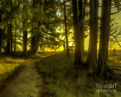 Forest Path Art Print by Jean OKeeffe Macro Abundance Art