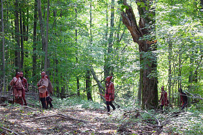 Revolutionary Wars Re-enactment Photograph - Forest Path by William Coffey
