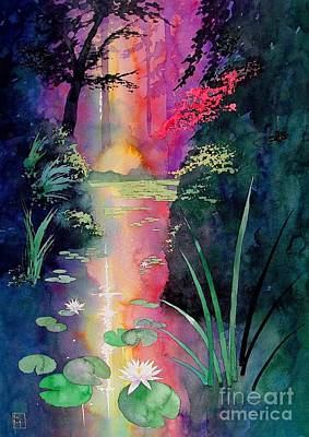 Pond Painting - Forest Pond by Robert Hooper