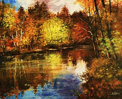 Painting - Forest Reflections by Al Brown
