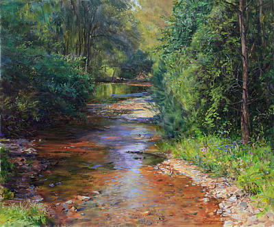 Painting - Forest River  by Galina Gladkaya
