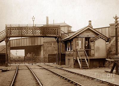 Signalman Photograph - Forest Road Signal Box Leicester England In 1903 by The Keasbury-Gordon Photograph Archive