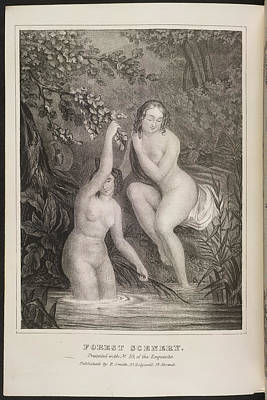 Depictions Of Nudity Photograph - Forest Scenery by British Library