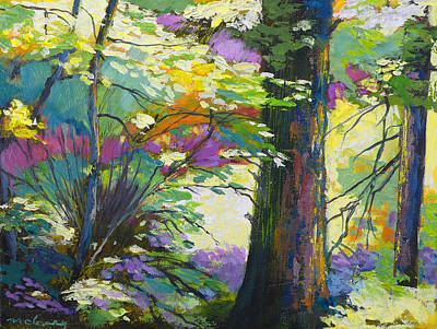 Painting - Forest Spring by Melody Cleary