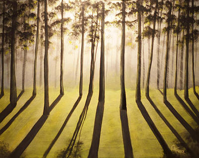Painting - Forest Thru The Trees by Chris Fraser