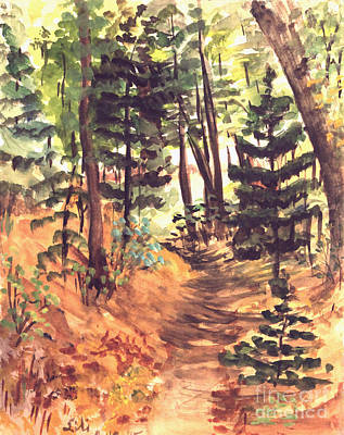 Painting - Forest Trail Michigan by Art By Tolpo Collection
