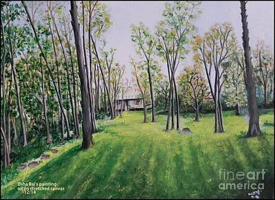 Painting - Forest View by Usha Rai
