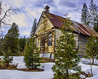 Photograph - Forestcity School House by William Havle