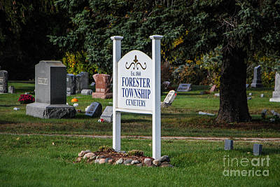 Photograph - Forester Township Cemetery by Grace Grogan
