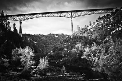 Photograph - Foresthill Bridge In The Snow 2 by Sherri Meyer