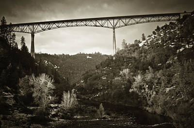 Foresthill Bridge In The Snow #3 Art Print