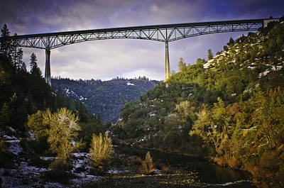 Photograph - Foresthill Bridge In The Snow by Sherri Meyer