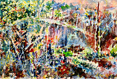 Painting - Forests Deep Study II by Alfred Motzer