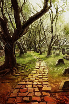Digital Art - Forests Path by Anthony Christou