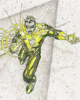 Green Lantern Drawing - Forever Green by Paul Smutylo