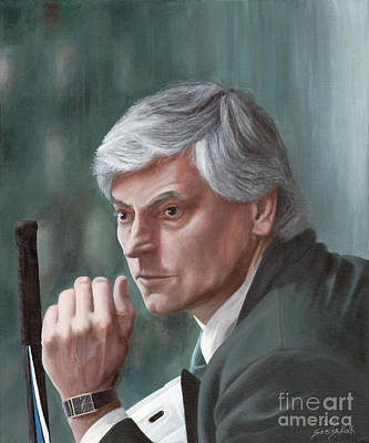 Olympic Hockey Painting - Forever Legend by Bretislav Stejskal