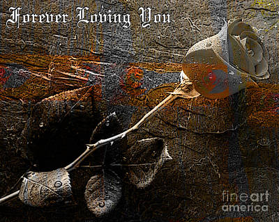 Mixed Media - Forever Loving You by Marvin Blaine