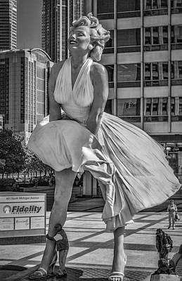 Photograph - Chicago Forever Marilyn by Erwin Spinner