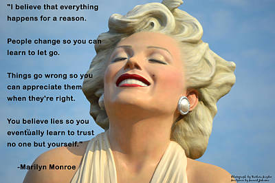 Forever Marilyn I Believe Art Print by Barbara Snyder