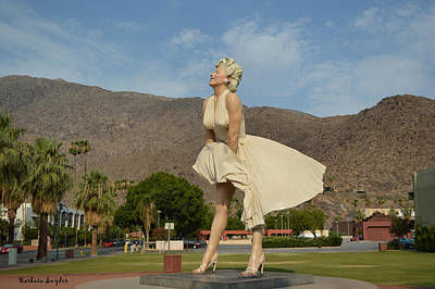 Forever Marilyn Sculpture  Art Print by Barbara Snyder