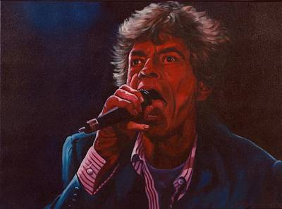 Patrick Painting - Forever Mick by Debbie Patrick
