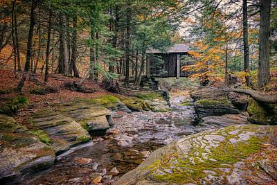 Forge Covered Bridge 2 Print by Joan Carroll