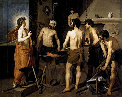 Vulcan Painting - Forge Of Vulcan  by Diego Rodriguez de Silva y Velazquez