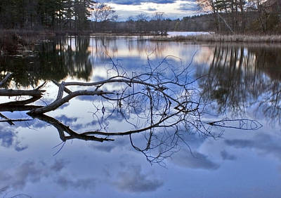 Photograph - Forge Pond Sunset II by Frank Winters