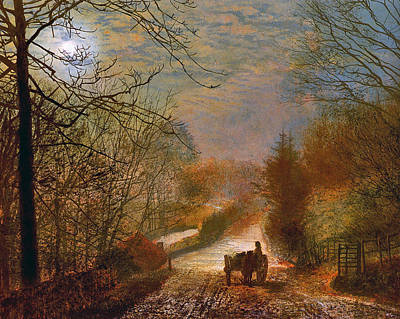Art Print featuring the painting Forge Valley Near Scarborough by John Atkinson Grimshaw