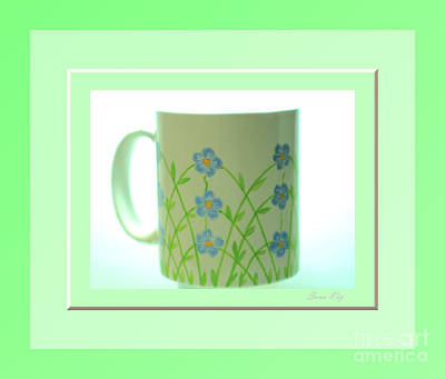 Glass Art - Forget Me Not. Green by Oksana Semenchenko