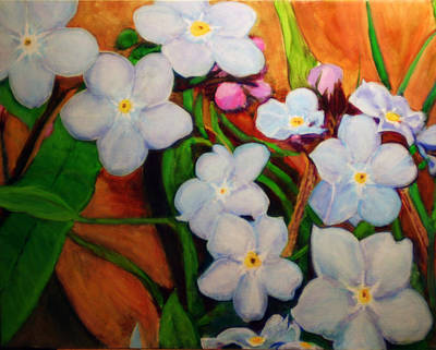 Painting - Forget Me Nots by Charlie Harris