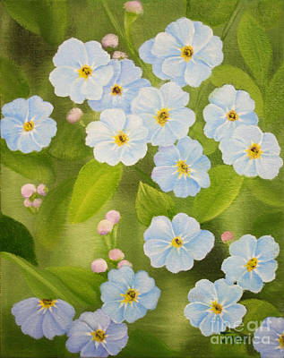 Forget Me Nots Art Print by Jimmie Bartlett