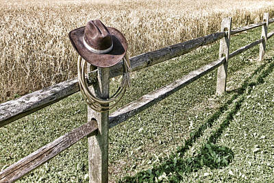 Fencepost Photograph - Forgetting Texas by Olivier Le Queinec
