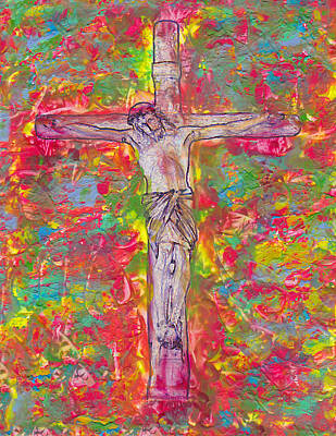 Encaustic Painting - Forgive  Them  Father by Carl Deaville