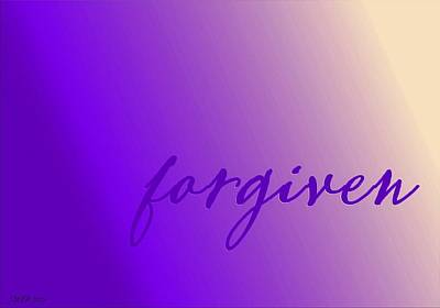 Digital Art - Forgiven Purple by Christine Nichols