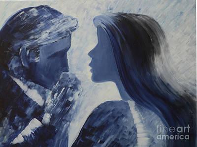 Forgiveness Kiss Art Print by Roni Ruth Palmer