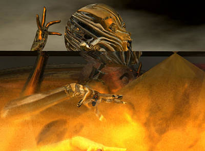 Digital Art - Forgoten In The Fire #2_p by Stephen Donoho