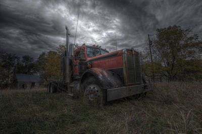 Forgotten Big Rig 2014 Art Print by Aaron J Groen