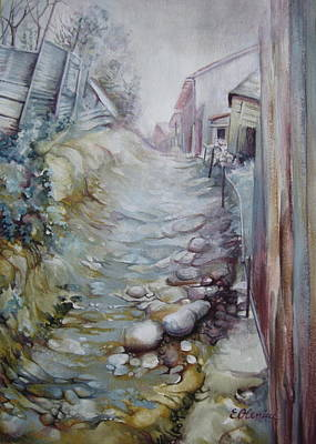 Pathway Mixed Media - Forgotten By Time by Elena Oleniuc