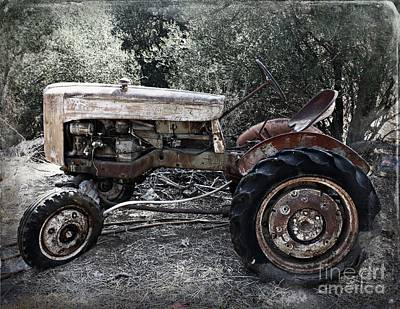 Tractors Photograph - Forgotten by Clare Bevan