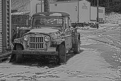 Art Print featuring the pyrography Forgotten Classic Truck by Timothy Latta