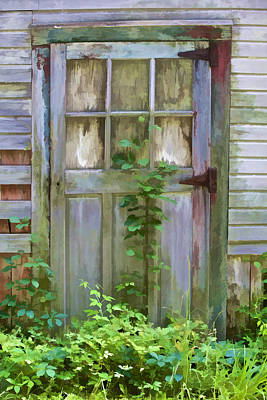 Photograph - Forgotten Door by David Letts