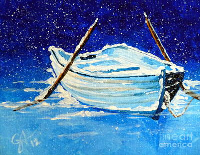 Forgotten Rowboat Art Print by Jackie Carpenter