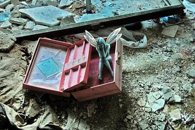 Fairy Mixed Media - Forgotten by Mark Zelmer
