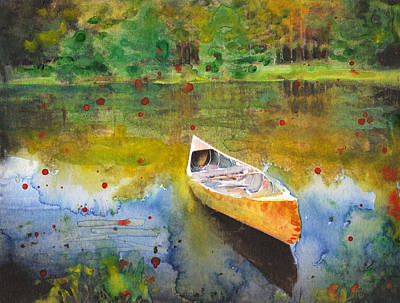 Boats In Water Mixed Media - Forgotten Memories by Susan Powell