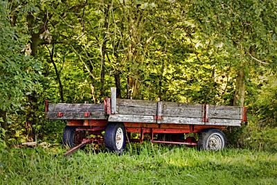 Wooden Farm Wagon Photograph - Forgotten - Old Farm Wagon by Nikolyn McDonald