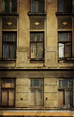 Forgotten Old Building With Broken Windows Art Print by Jaroslaw Blaminsky